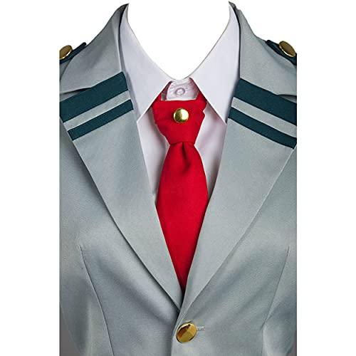 shaoyunshop Boku no Hero Academia My Hero Academia Ochako Uraraka Tsuyu Escuela Uniforme Chaqueta Camisa Abrigo Falda Cosplay Disfraz