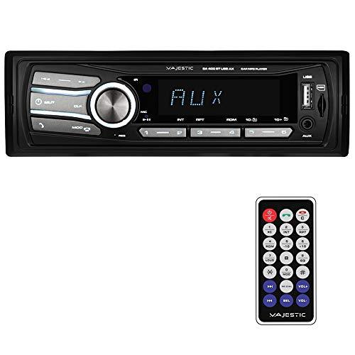 Majestic SA 400 BT USB AX - Sistema Audio Car con Bluetooth, Lettore MP3/WMA da USB/Micro SD, Telecomando, 100W (25W x 4ch), Nero