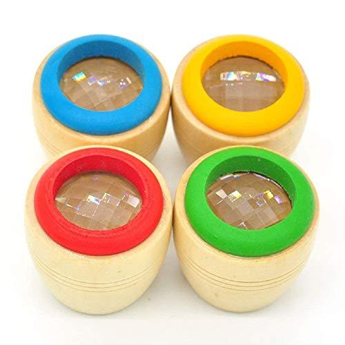 GIVBRO Kaleidoskop aus Holz, 2 Stück, Magische Bienenenaugen-Effekt, Kaleidoskop, Spielzeug für Kinder