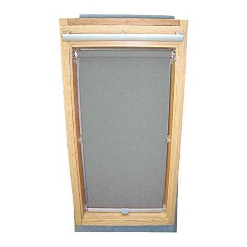 Easy-Shadow Dachfenster Abdunkelungsrollo Basis Rollo für Typ Roto WDF Designo R6 / R8 / R84 / R85 / R86 / R88 / R89 / R6_K/H R8_K/H R8_K/H SR Größe 9/14 - in der Farbe grau