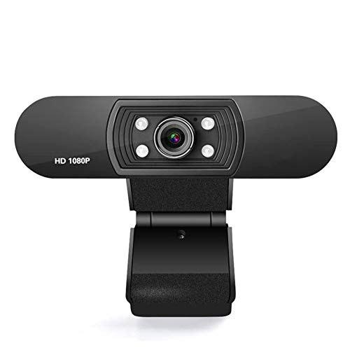 JSX webcam 1080P met microfoon, Full HD-streaming-camera voor videogesprekken en opnames/flexibele draaibare clip