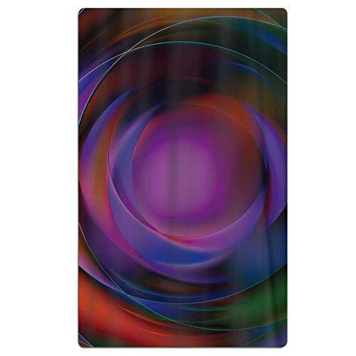 CHSUNHEY Toalla de Playa,100% Microfibra Absorbente Manta de Playa - Colorful 31.5