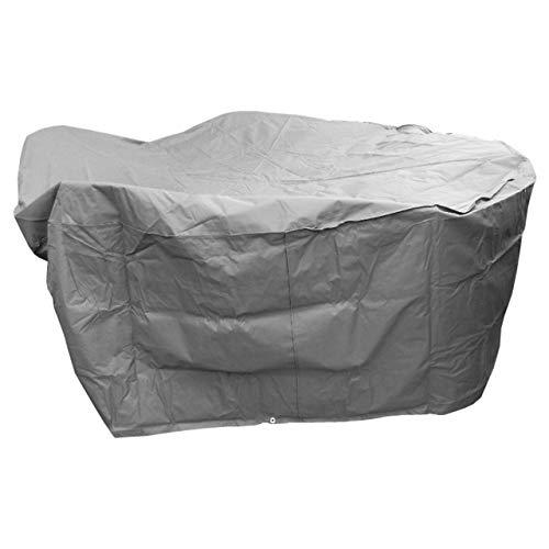 MACOShopde by MACO Möbel Schutzhülle für runde Garten-Sitzgruppe, 320x93 cm, Polyester 420D, Sitzgruppe Gartenmöbel Schutz Hülle Abdeckung Tragetasche Plane