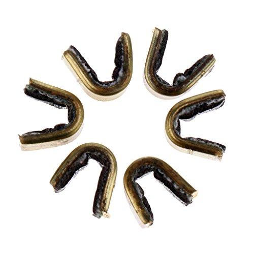 MagiDeal Cuivre Pince Nocks Boucle De Corde d'arc De Tir à l'arc Chasse - 6 Pcs (5 x 5 mm)