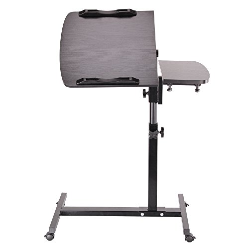 AllRight Laptop Tray Table Stand Laptop Table Adjustable Portable For Sofa Bed Black