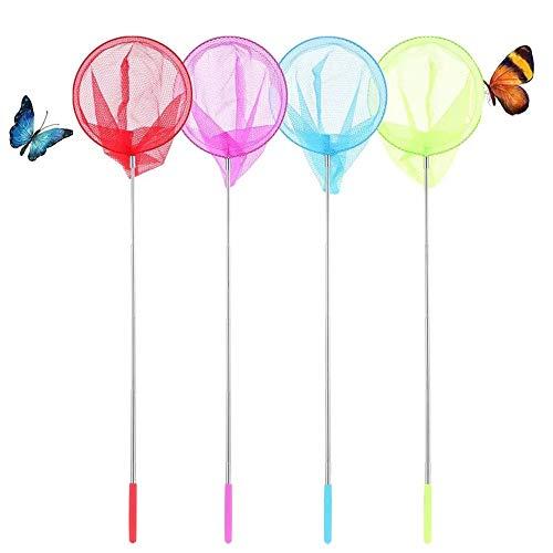 BJ-SHOP Red de Mariposas,Ninos Pesca Neto Inserto de Mariposa Extensible Jardin Insecto Bird Net Kids Catcher 4 Paquetes