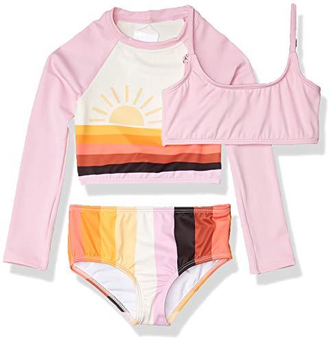 Billabong Girls' Sunset Glow Three Piece Swim Set, Multi, 6X