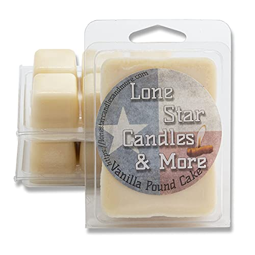 Vanilla Pound Cake, 3-Pack Premium Lone Star Scented Wax Melts, Hand Poured Wax Melts, A Scrumptious blend of Vanilla and Cake, 18 Maximum Scented Warmer Cubes