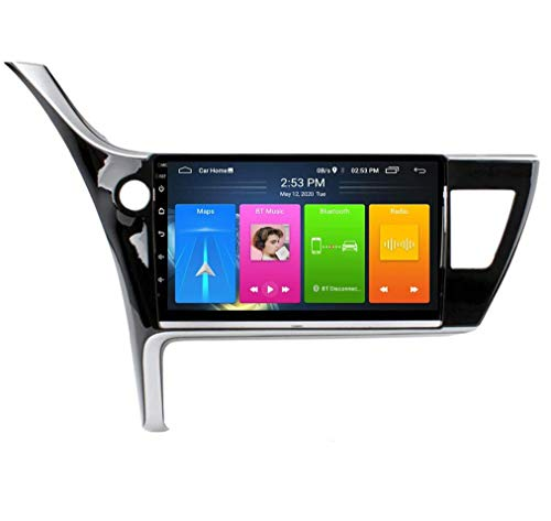 QBWZ Car Stereo Android 9.0 Radio para Toyota Corolla 2017-2018 Navegación GPS 9 Pulgadas HD Pantalla táctil Unidad Principal Reproductor Multimedia MP5 Video con 4G WiFi DSP SWC