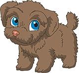 Bambinella® Bügelbild Aufbügler - gedruckte Velour/Flock Applikation zum selbst Aufbügeln - Motiv: Hund Bolonka Zwetna - gefertigt in eigener Werkstatt in Neuhof/Deutschland