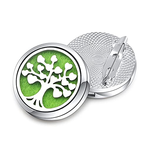 Exquisito Broches Aroma Difusor 9 Patrones 28mm Magnético Aceite Esencial Aromaterapia Perfume Lockets Broches