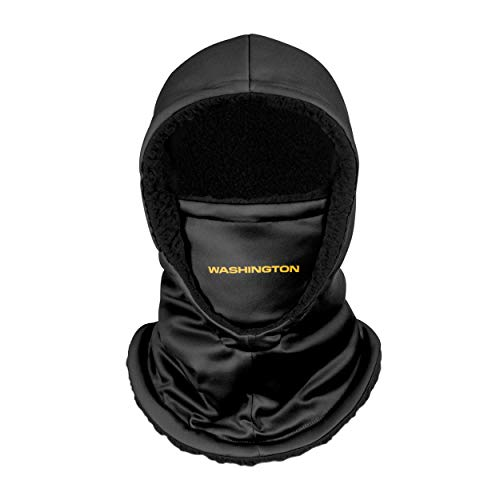 FOCO Washington Football Team NFL Black Hooded Gaiter, Adult (SVNFGRHDSN)