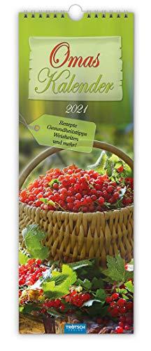 """Maxi-Streifenkalender """"Oma"""" 2021: 15 x 42 cm, mit aufwendiger Rückseitengestaltung"""