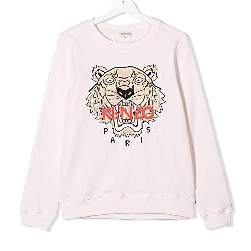 Kenzo Kids - Broderad tigertröja, rosa/roséguld, 12 år
