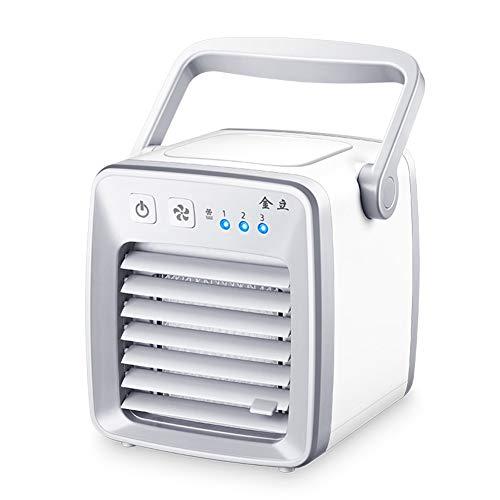 Enfriador De Aire, Ventilador De Aire Acondicionado Silencioso Portátil Para Personal, Enfriador Y Purificador De Aire Evaporativo De Escritorio USB Mini Para Oficina, Viaje En El Hogar, Al Aire Libre