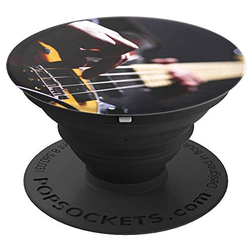 Cool Bass Guitar Frets & Strings Gift Grip for Music Lovers PopSockets Grip and Stand for Phones and Tablets
