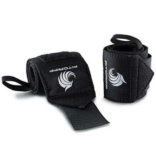Handgelenkbandagen – für Kraftsport, Bodybuilding, Krafttraining, Crossfit & Fitness – für Damen und Herren – zum Schutz der Handgelenke beim Training – von Fitgriff - 3