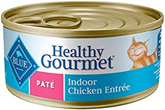 Blue Buffalo Healthy Gourmet Natural Adult Pate Wet Cat Food Indoor Chicken 5.5-oz cans (Pack of 24)