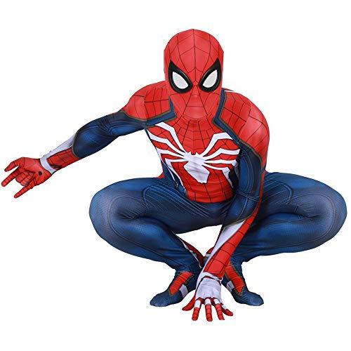 Bisika Cos Unisex Spider man Cosplay Costume Bodysuit Spandex Halloween Adult/Kids 3D