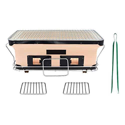 Cuisine de Plein air Barbecue Grill Style Japonais Clay Oven Charbon Cuisinière Barbecue Hot Pot d'extérieur Mini Place holzkohlegrill (Color : Multi-Colored)