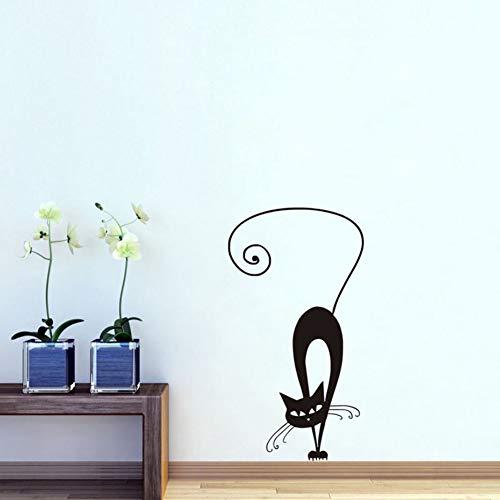 Wanghan Pliant Autocollant Mural En Vinyle De Chat Siamois Pour Chambres D'Enfants Amovible Chambre Stickers Muraux Kitty Cat Décor À La Maison 31X59