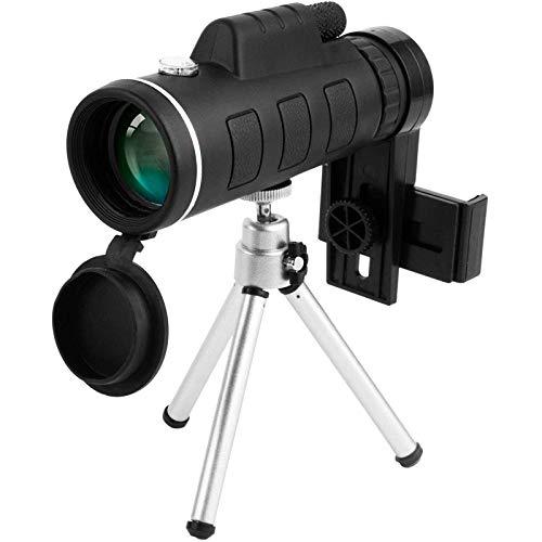 Bierglaks Telescopio Estelar monocular 40X60 de Alta Potencia HD con Soporte para telfono Inteligente y trpode para observacin de Aves, Acampada, Senderismo, Partido