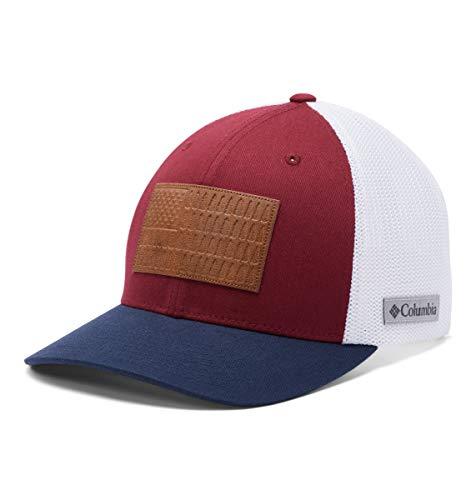Columbia Rugged Outdoor Mesh Hat, Red Jasper/White/Collegiate Navy, Small/Medium