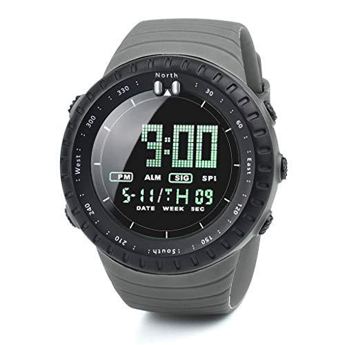 HWTOP Herrenuhr Sportuhren LED Digitaluhr Herrenuhr Elektronische, Grau