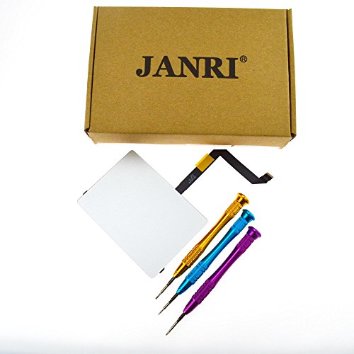 """JANRI Replacement 923-0438 923-0441 Touchpad Trackpad + Ribbon Flex Cable + 3 set screwdrivers for Apple MacBook Air 13"""" MacBookAir6,2 A1466 (Mid 2013, Early 2014, Early 2015)"""
