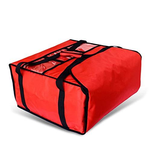 Meirrai Bolsa de Reparto para Pizza de 50 cm - 5 Cajas - 500 x 500 x 270 mm (Red)