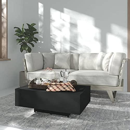 vidaXL Mesa de Centro Auxiliar Consola Mesita Salón Lateral Té Café Sofá Sala de Estar Muebles Mobiliario de Aglomerado Negro 85x55x31 cm