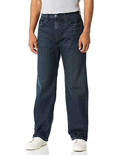 Nautica Men's Loose Fit 5 Pocket Jean Pant, Rigger Blue/Hook Line Blue, 40W 32L