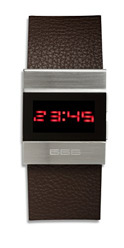 666Barcelona Unisex Erwachsene Digital Uhr mit Leder Armband 666-142