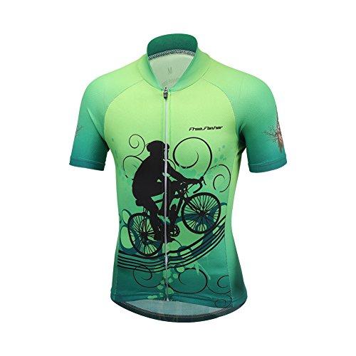 YFPICO Shirt für Kinder,Schnelltrocknende,Atmungsaktive Kurzarm-Radtrage Mountainbike-Trikots, Fahrrad, 134/140
