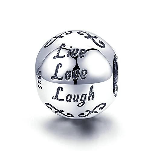 LISHOU Auténtica 100% Plata De Ley 925, Cuentas Colgantes De Vida Hermosa, Ajuste Original, Pulsera De Mujer, Collar, Fabricación De Joyas Simples