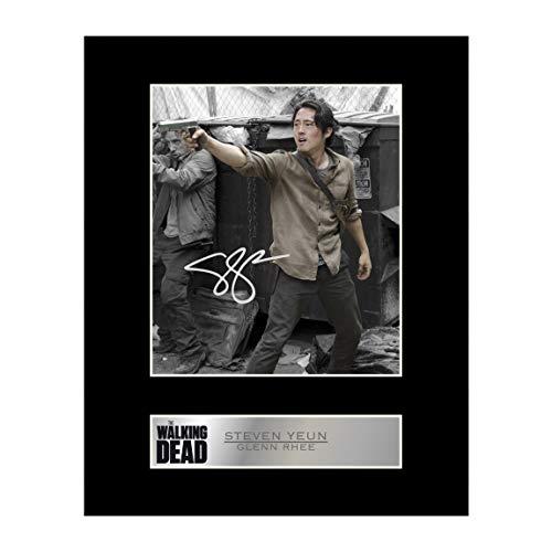 Steven Yeun, Glenn Rhee, signiertes Foto mit Passepartout, The Walking Dead #1, signiertes Geschenk, Fotodruck