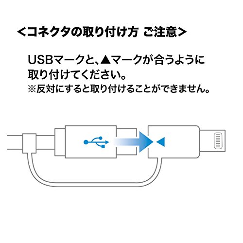 サンワサプライ巻き取りUSB3in1ケーブルライトニング/Type-C/microUSB1.2m(Mfi認証品)KB-IPLTM12W