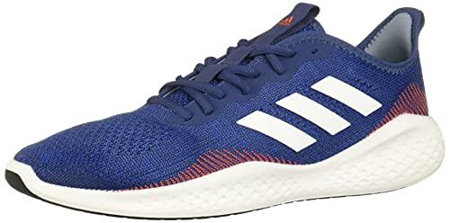 Adidas Hombre Fluidflow, Tech Indigo/Footwear White/Semi Solar Red, 8 US
