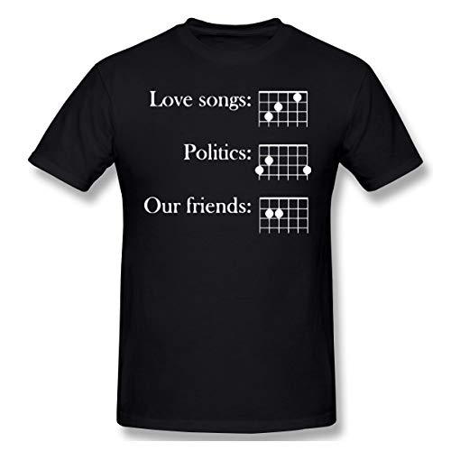 Livetees Frank Turner Love Songs Politics Our Friends Herren Weich T-Shirt Black XL
