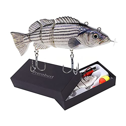 Prorobust Robotic Swimming Fishing Electric Lures USB Rechargeable LED...