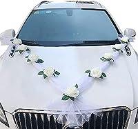 1.cette decoration voiture mariage est composée de fleurs artificielles 11 et de gaze 2 ruban décoration voiture mariage. La finition est exquise et ressemble à une vraie rose en fleur. 2.Sûr et facile à installer : cette deco mariage voiture Montage...