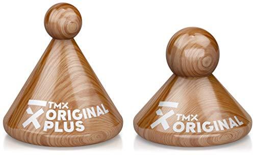 TMX Trigger Original Mixed Set, Original Plus & Original, Massagegeräte zur Triggerpunkt-Behandlung, punktuelle Akupressur, Muskelverhärtungen lösen, Faszien triggern, aus Buchenholz, 2 x natur