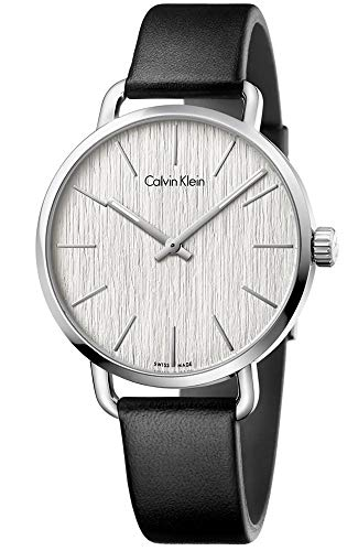 Calvin Klein Damen Analog Quarz Uhr mit Leder Armband K7B211C6