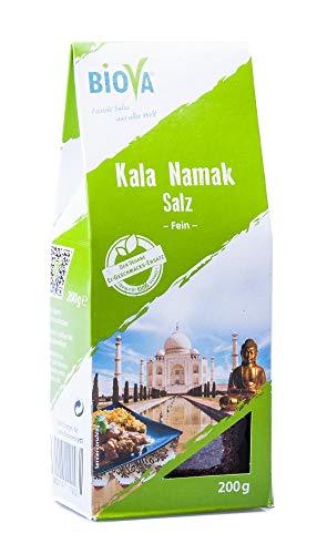 Biova Kala-Namak Salz aus Indien Feinstreu 3x 200 g