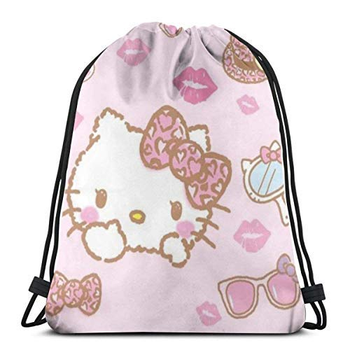 XCNGG Classic Drawstring Bag-Make Up Kitty Gym Backpack Shoulder Bags Sport Storage Bag for Man Women