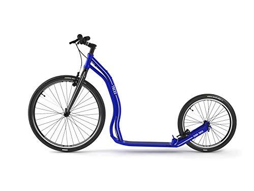Yedoo Trexx Tretroller - bis 130 kg, Kickscooter mit Luftreifen 26/20 - Roller Scooter für Erwachsene, Dogscooter aus Aluminiumlegierung, Gewicht 7,8 kg (blau)
