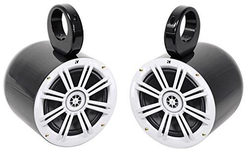 "Pair Kicker 41KM604W 6.5"" KM- Series 150 Watt Marine Wakeboard Tower Speakers"