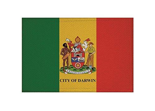 U24 Aufnäher Darwin Fahne Flagge Aufbügler Patch 9 x 6 cm