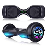 SISIGAD SISGAD Hoverboard 6.5' Self Balancing Hoverboard UL 2272 Certified Two-Wheel Self Balancing Electric Scooter with Flash Wheel Top LED Light-Black(Free Bag)