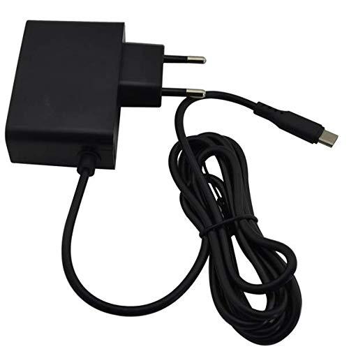 DARLINGTON & Sohns Fuente de alimentación para Nintendo Switch, cable de carga, cargador de repuesto, adaptador de CA